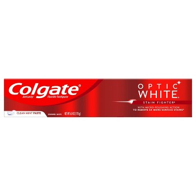 Colgate Optic White Stain Fighter Whitening Toothpaste - Clean Mint - 6oz