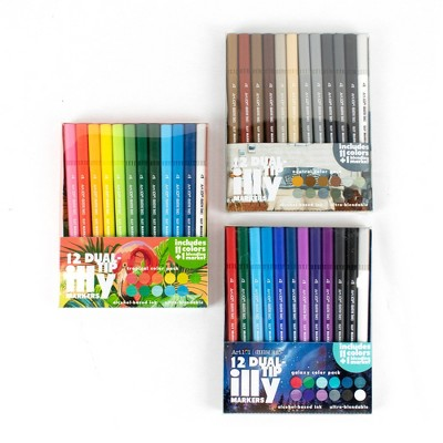 36ct Dual Tip Illy Markers - Art 101