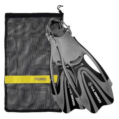 U.S. Divers FA328O0115L Proflex FX Snorkeling Set Size Large Mens & Womens Diving Fins with Mesh Carry Bag, Black