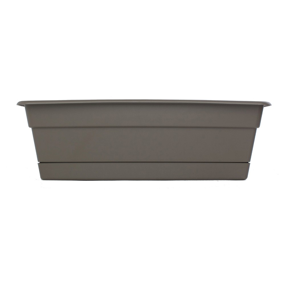 "Image of ""24"""" Novelty Dura Cotta Window Box - Peppercorn Brown - Bloem"""