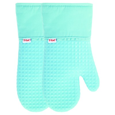 2pk Teal Waffle Silicone Oven Mitt - T-Fal®