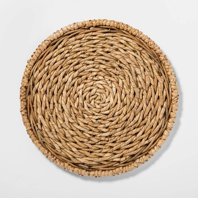 "13"" Seagrass Decorative Charger Beige - Threshold™"
