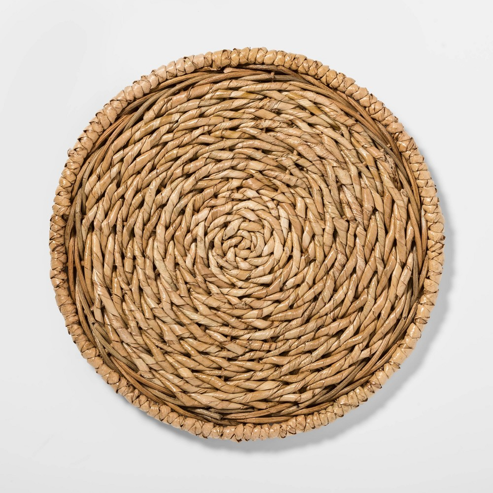"Image of ""13"""" Seagrass Decorative Charger Beige - Threshold"""