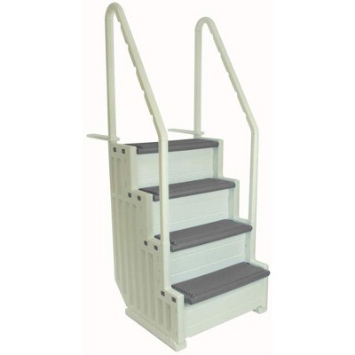 Confer Step-1 Heavy-Duty Above Ground Swimming Pool Ladder Stair Entry System