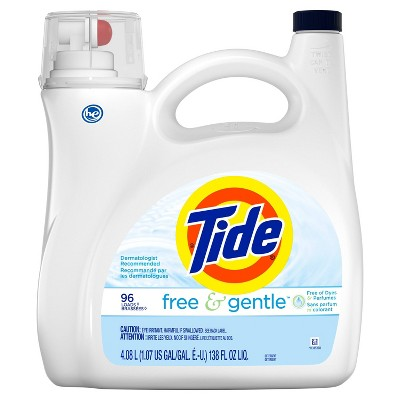 Tide Free & Gentle HE Liquid Laundry Detergent - 138 fl oz