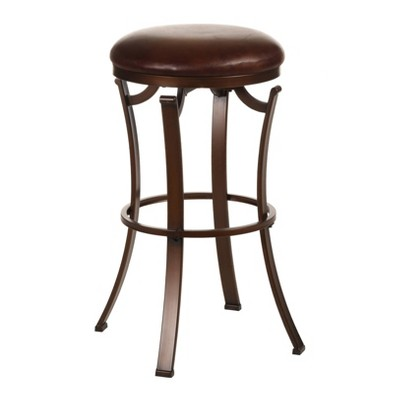 "30"" Kelford Backless Barstool Metal/Antique Bronze - Hillsdale Furniture"