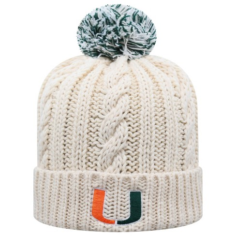 NCAA Women's Miami Hurricanes Natural Cable Knit Janet - image 1 of 2