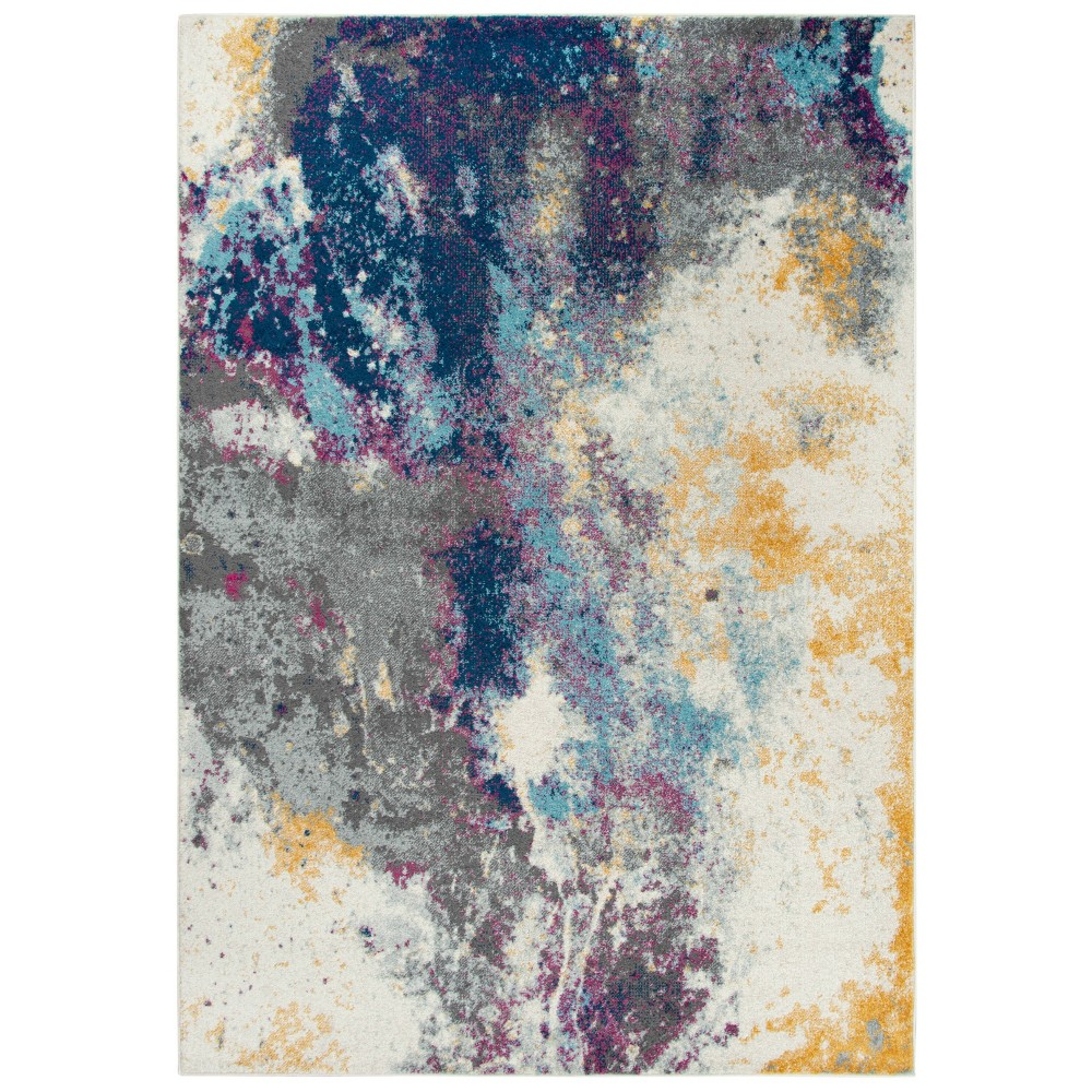 7 10 X10 6 Rothport Abstract Rug Navy Rizzy Home