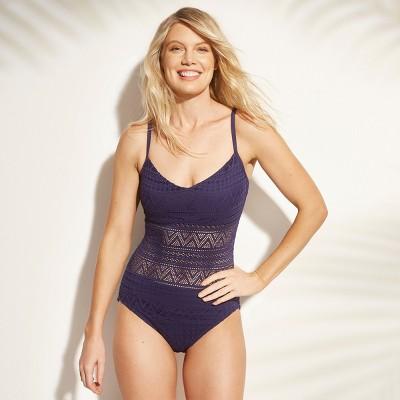 559cde180c Women's Crochet One Piece Swimsuit – Aqua Green® Sapphire XL ...