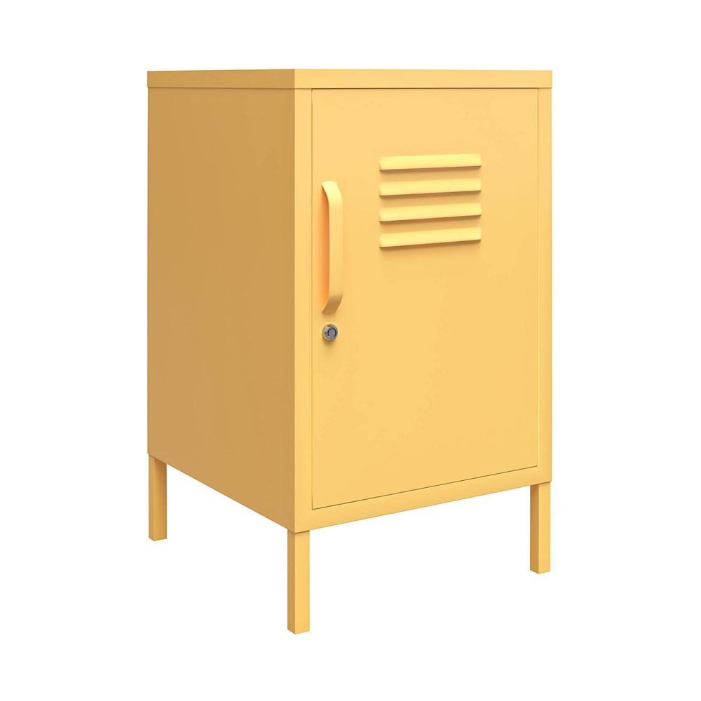 Cache Metal Locker End Table Yellow Novogratz