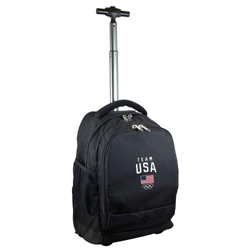 Team USA Rolling Premium Backpack - Black