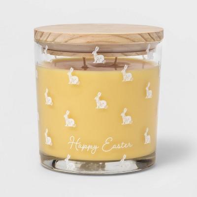 13oz Glass Jar 'Mini Bunny Print' Sweet Carrot & Apricot Candle - Threshold™