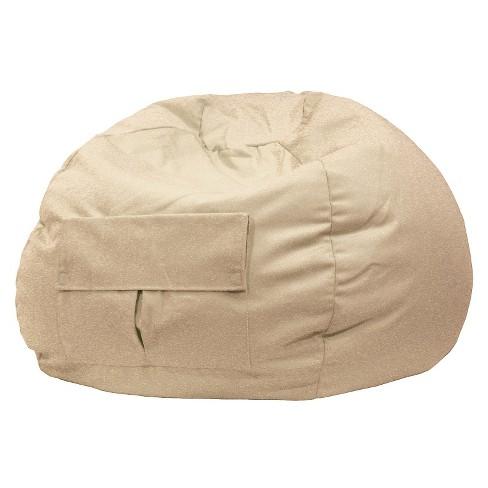 Medium/Tween Denim Look Bean Bag with Cargo Pocket Khaki - Gold Medal - image 1 of 1