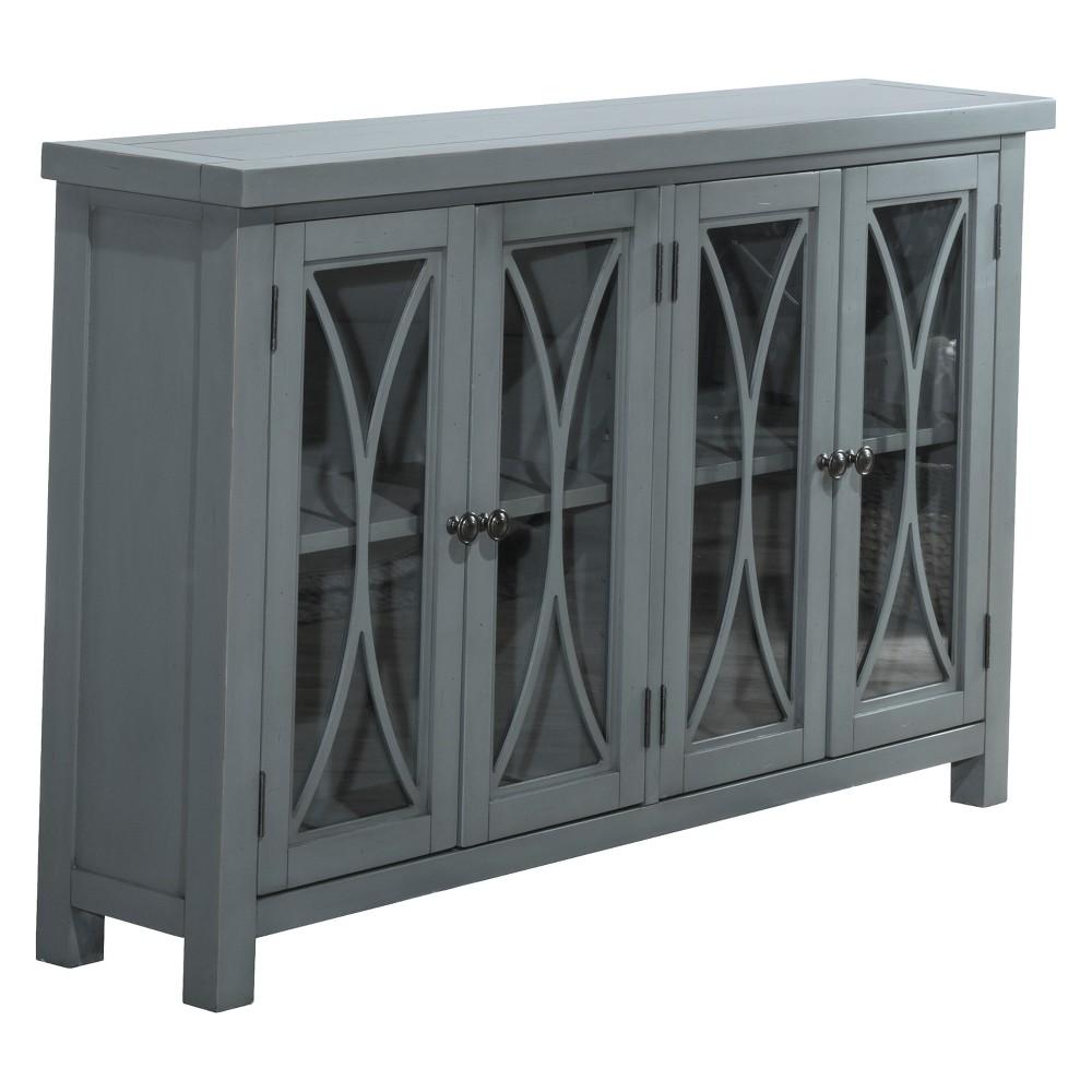 Bayside Four (4) Door Cabinet Robin Egg Blue - Hillsdale Furniture, Sky Blue