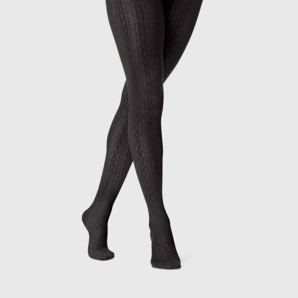 Image of Women's Cable Sweater Tights - A New Day Black L/XL, Size: Large/XL