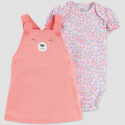 Baby Girls' Bear Top & Bottom Set - Just One You® made by carter's Pink 6M
