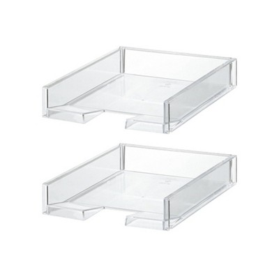 Like-It MX-18 Versatile Clear Easy Access Polystyrene Customizable Home Storage Solution Organizer (2 Pack)