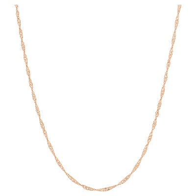 """Adjustable Singapore Chain In Sterling Silver - 16"""" - 22"""""""