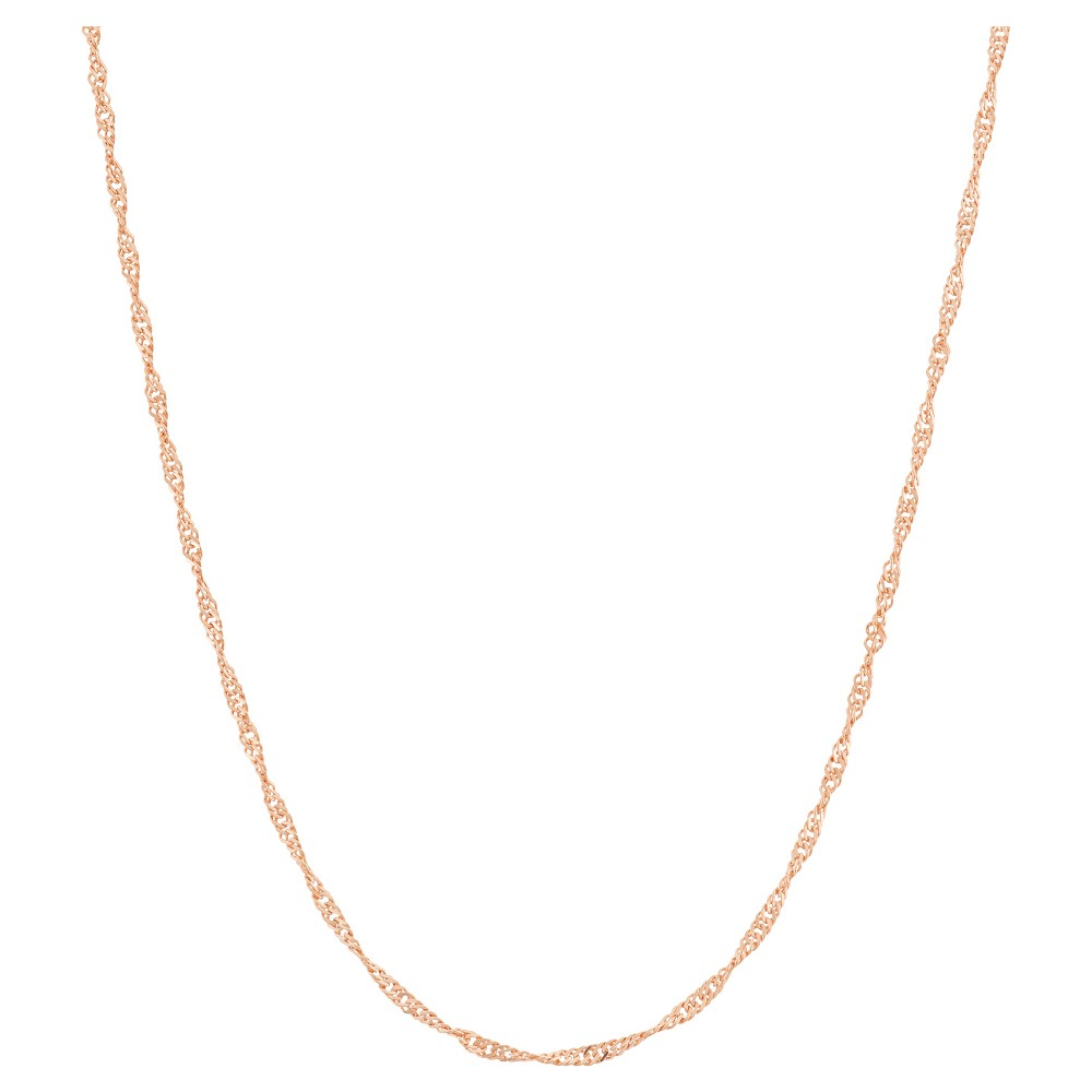 Adjustable Singapore Chain In 14k Rose Gold Over Silver 16 22