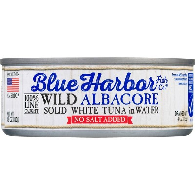 Blue Harbor Solid Albacore Tuna in Water No Salt Added - 4.6oz