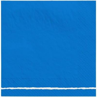 30ct Disposable Lunch Napkins Blue/White - Spritz™