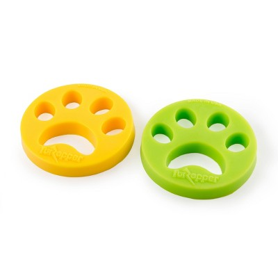 FurZapper Dog and Cat Grooming Tool - Yellow - 2pk