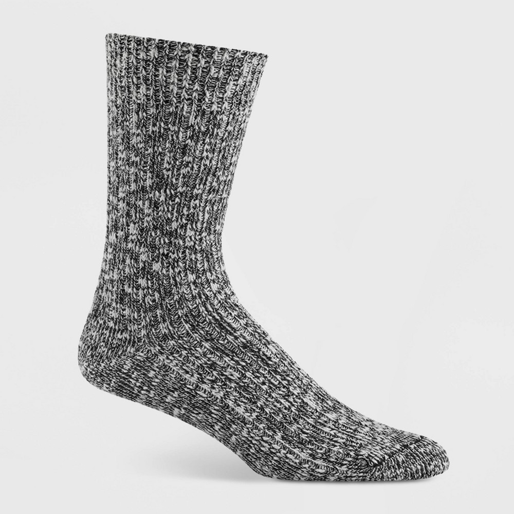 Image of Wigwam Women's Cypress Marled Cotton Crew Boot Socks - White/Black, Women's, Size: Small