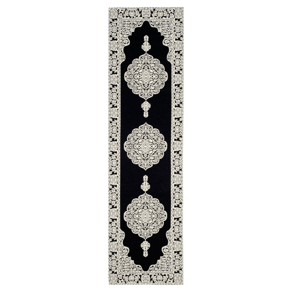 Black/Ivory Abstract Woven Runner - (2'3X8') - Safavieh