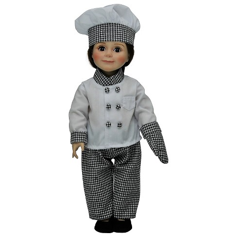 b99b35812402 The Queen's Treasures® 18 Inch Doll Clothes Complete Chef's Outfit Hat,  Jacket, Pants, Shoes, Mitt : Target