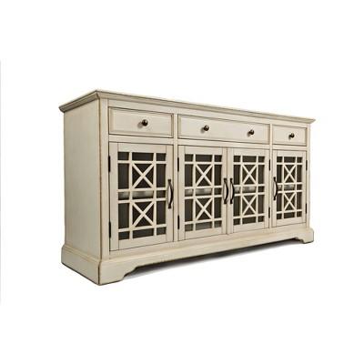 "60"" Craftsman Series Wooden Media Unit with 3 Drawers - Benzara"