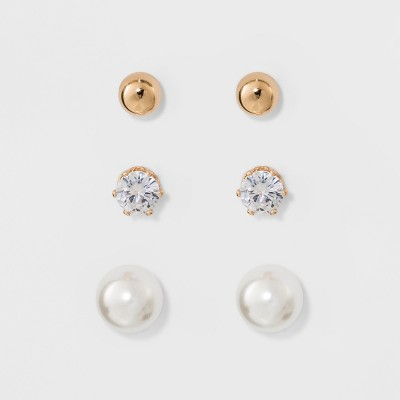 Stud Earring Set 3ct - A New Day™