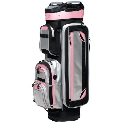Glove It Women's Signature Cosmo Golf Cart Bag with Strap, Silver