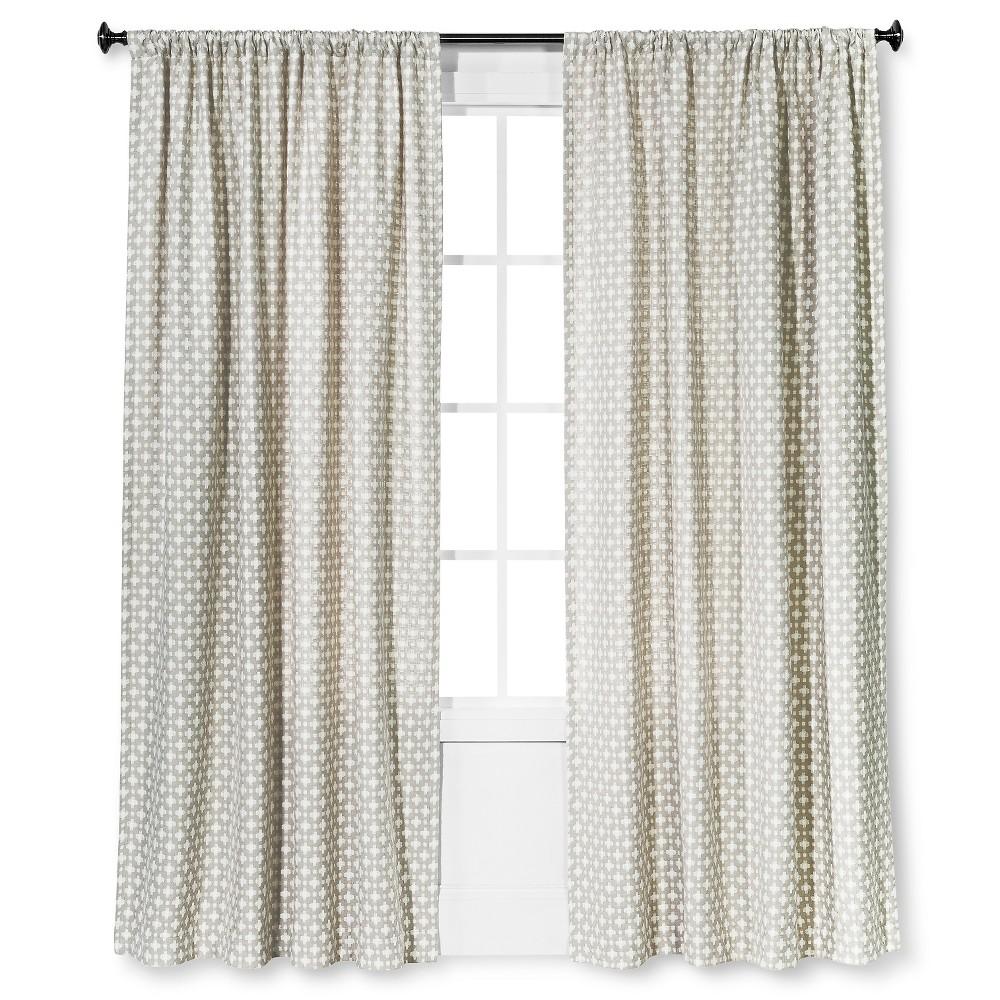 Woven Window Curtain Panel Creamy Chai(54