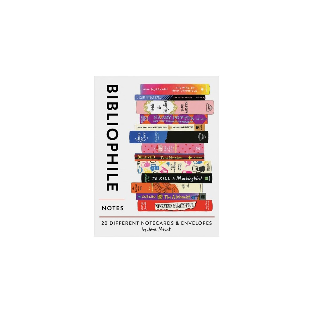 Bibliophile Notes : 20 Different Notecards & Envelopes - (Stationery)