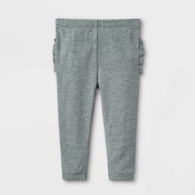 Baby Girls' Ruffle Bum Leggings - Cat & Jack™ Gray 18M
