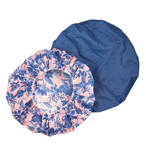 Conair Printed Shower Cap with Microban - 2pk - image 1 of 3