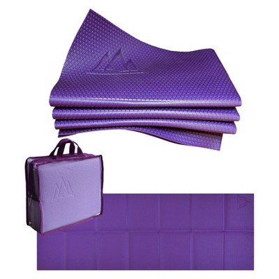 Khataland YoFoMat Pro Folding Yoga Mat - Purple (3mm)