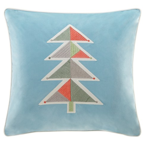 Holiday Novelty Geo Tree Square Throw Pillow - image 1 of 1