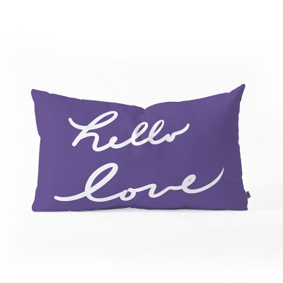 Lisa Argyropoulos Hello Love Violet Lumbar Throw Pillow Purple - Deny Designs
