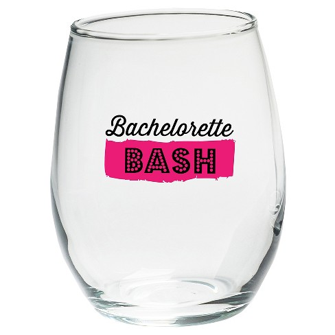 4ct Kate Aspen Bachelorette Bash 15 Oz. Stemless Wine Glasses - image 1 of 1