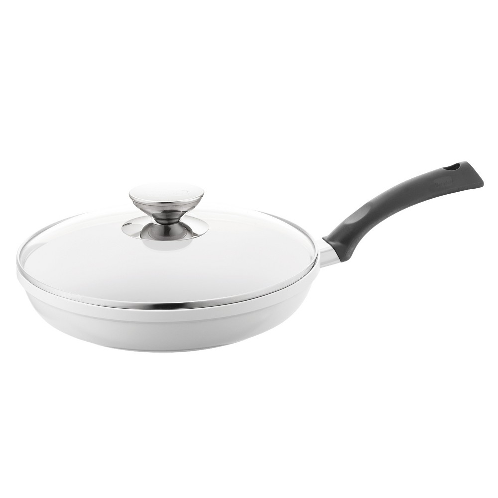 Berndes SignoCast Ceramic 11.5 Fry Pan with Lid Pearl, White