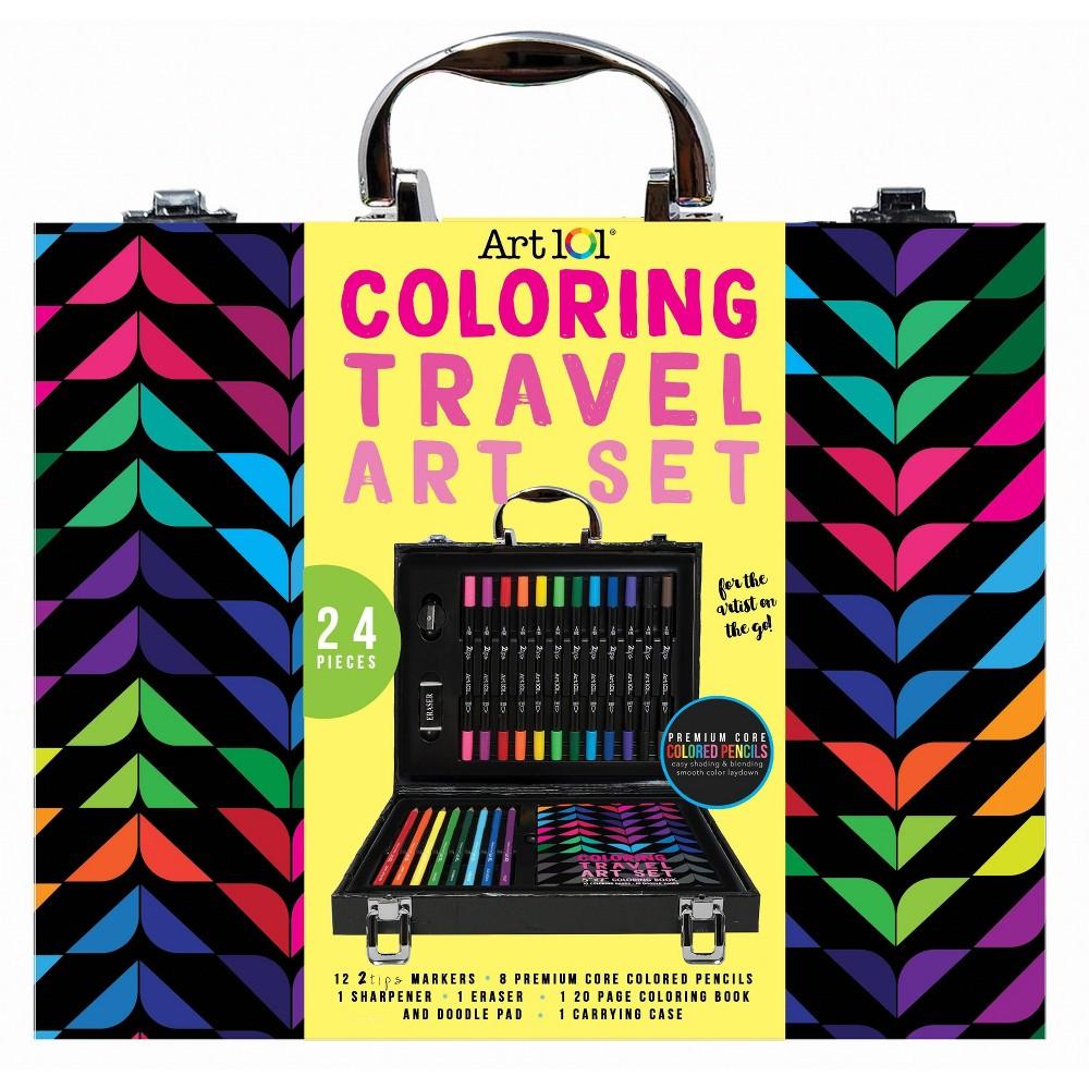 Image of Art 101 24pc Coloring Travel Art Set