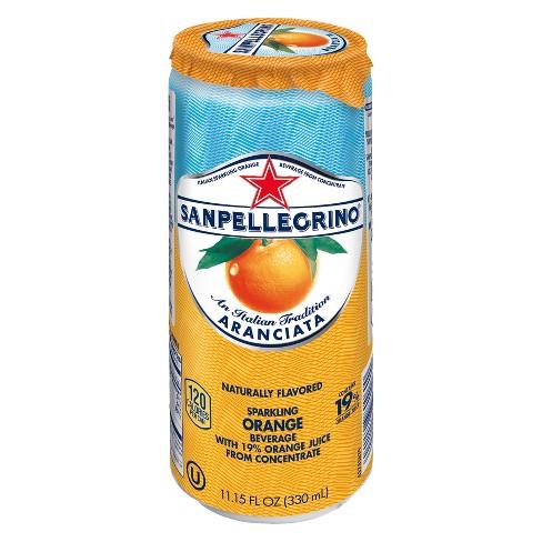 San Pellegrino Orange Enhanced Water - 330ml Sleek Can - image 1 of 4