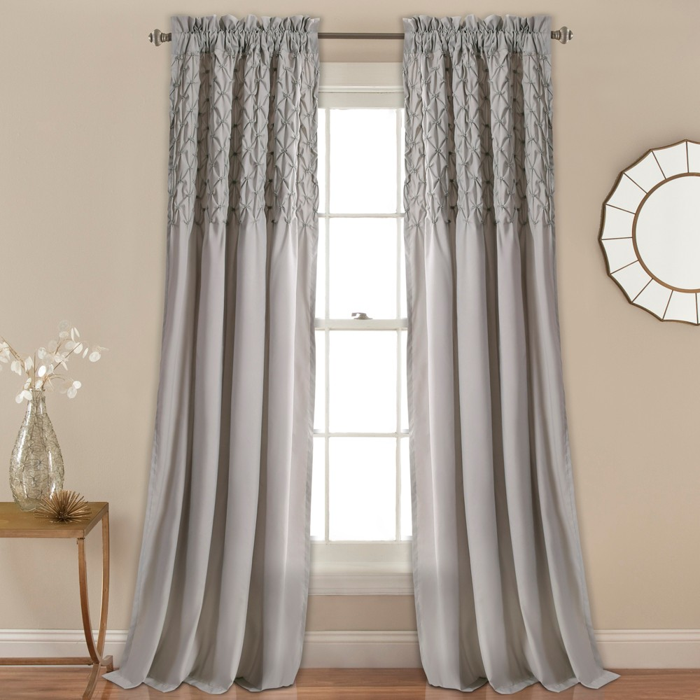 Bayview Window Curtain Set Gray (84