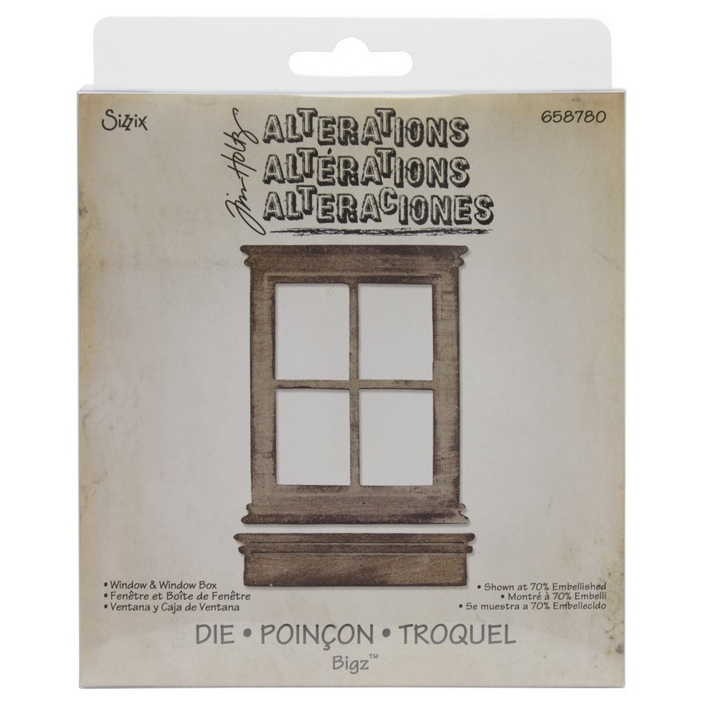 "Image of ""Sizzix Bigz Die By Tim Holtz Window & Window Box-Brown 5.5""""x6"""""""