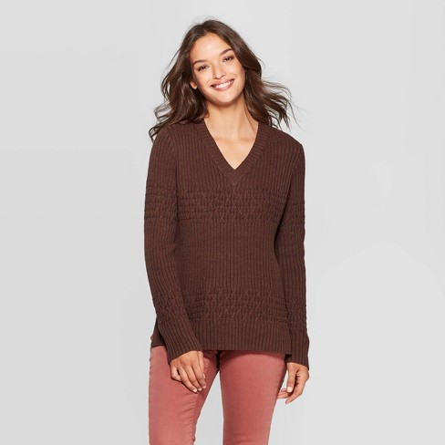 Women's Long Sleeve V-Neck Pullover Sweater - Universal Thread™ - image 1 of 3