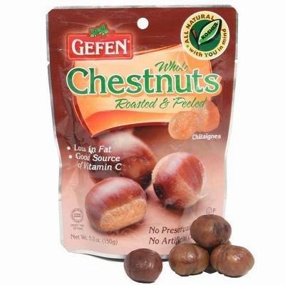 Gefen Roasted & Peeled Whole Chestnuts 5.2oz