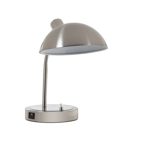 Leone Flexible Neck Desk Lamp Silver  - Ore International - image 1 of 4