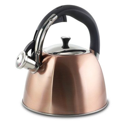Mr Coffee Belgrove 2.5 Quart Whistling Tea Kettle in Copper