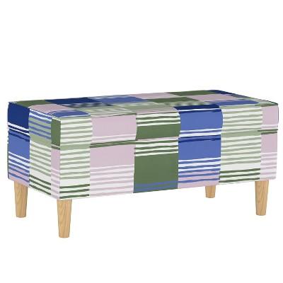 Striped Upholstered Bench Target